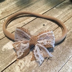 Other - Cute burlap and lace bow